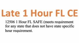 12506 Late CE 1 Hour FL SAFE:Mortgage Regulations and Updates (12079)